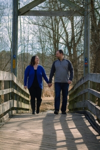 Maywood-Outdoor-Couple-Portrait-Walking-Bridge-8